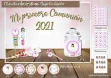 Kit Etiquetas decorativas Comunion. Imprimibles. Archivo digital jpg y pdf.