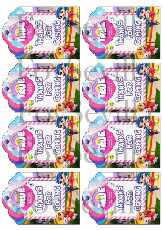 Vera y el Reino Arcoiris kit cumpleaños, Archivo Digital imprimible.