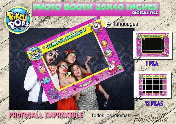 Pikmi pops Photocall, archivo digital, imprimible