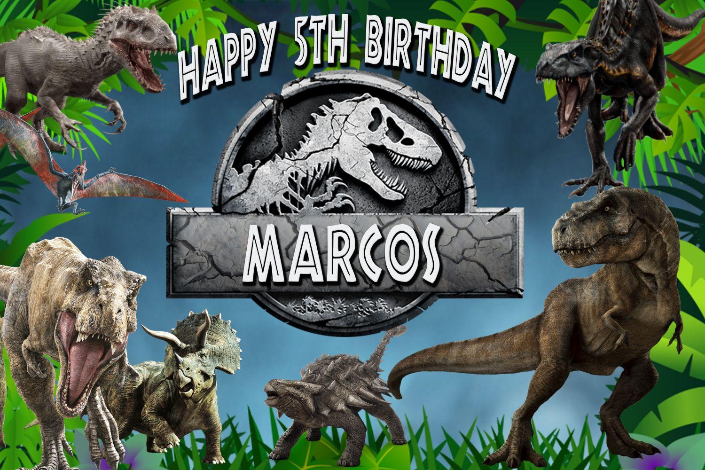 JURASSIC WORLD Telon de fondo,Frontal de mesa Dinosaurios, Archivo Digital personalizado,imprimible