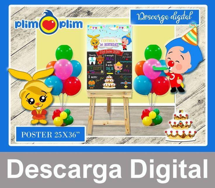 PLIM PLIM Pizarra cumpleaños, archivo digital, todos los idiomas