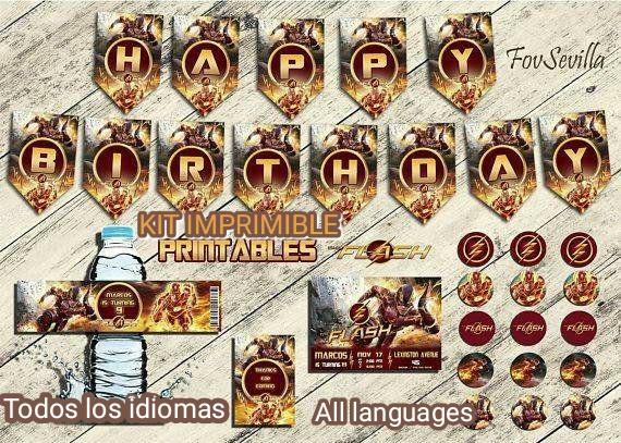 FLASH KIT CUMPLEAÑOS Personalizable. Todos los idiomas. Archivo digital.