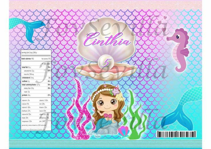 SIRENA Kit fiesta, Imprimible, Archivo digital, personalizado