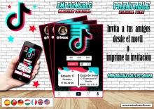 Invitación personalizada inspirada en TikTok