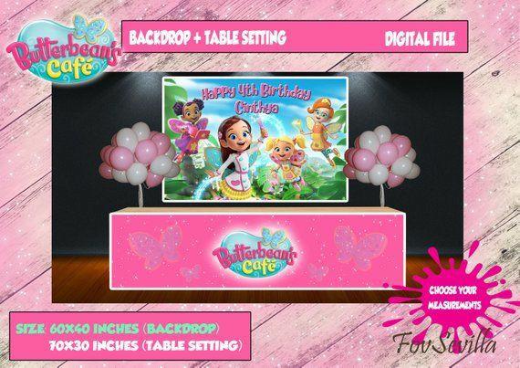 Butterbeans cafe telon de fondo, frontal de mesa Butterbeans cafe, Archivo Digital personalizado, imprimible