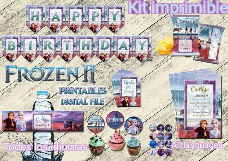 Frozen kit cumpleaños, archivo Digital personalizado, imprimible