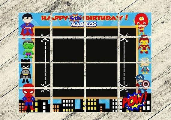 Superhéroes Photocall, archivo digital, Bebés superhéroes