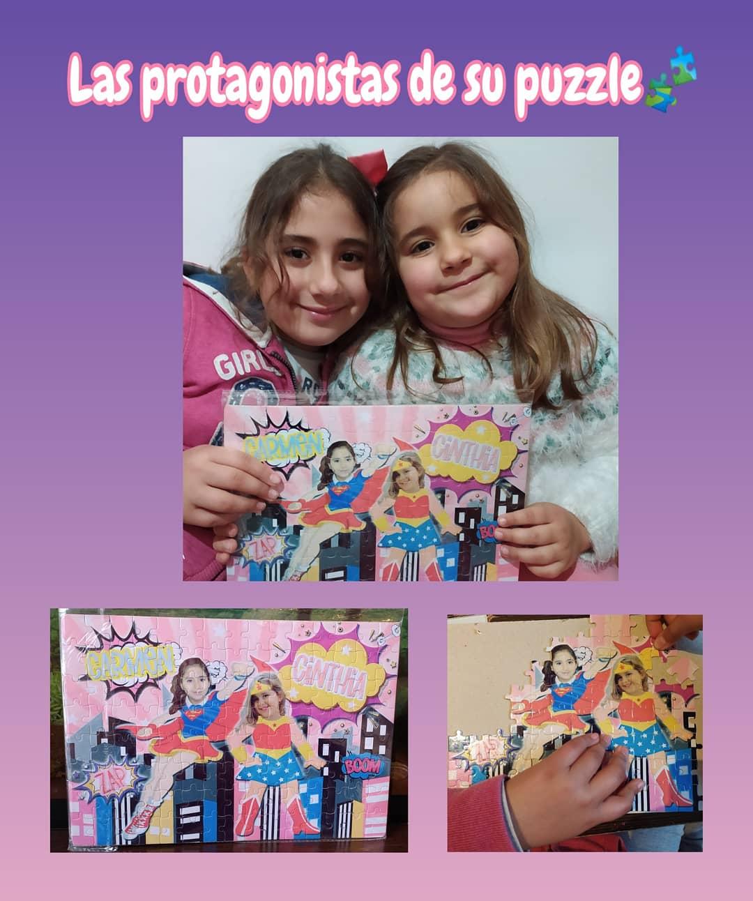 Puzzle superhéroes personalizados con foto. Entrega a domicilio