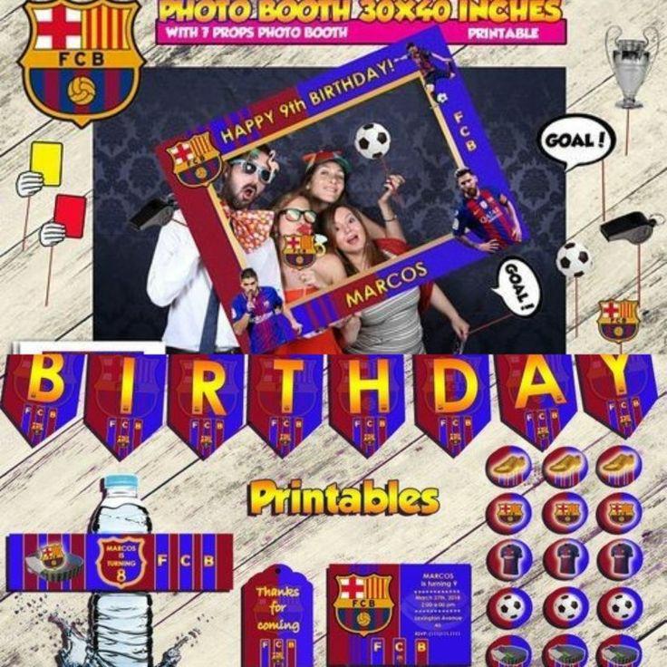 BARCELONA Kit cumpleaños, Archivo Digital personalizado, imprimible