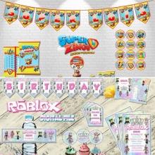 Pedido personalizado. Kits imprimibles Super Zings y Roblox chica.