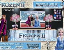 Frozen Telón de fondo / frontal de mesa. Archivo digital imprimible