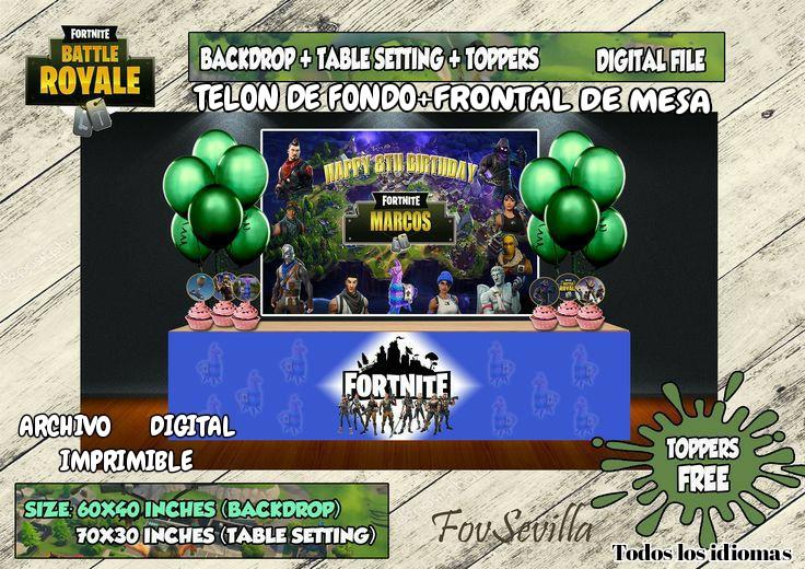 Fortnite Telon de fondo. Envoltorio mesa Fortnite. Archivo Digital personalizado, imprimible