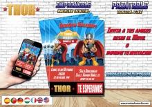 Thor invitacion digital con foto, todos los idiomas